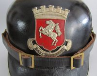 """Feuerwehrhaube der Firma Basse & Selve  Provenance/Rights:  M.-A. Trappe (CC BY-NC-SA)"